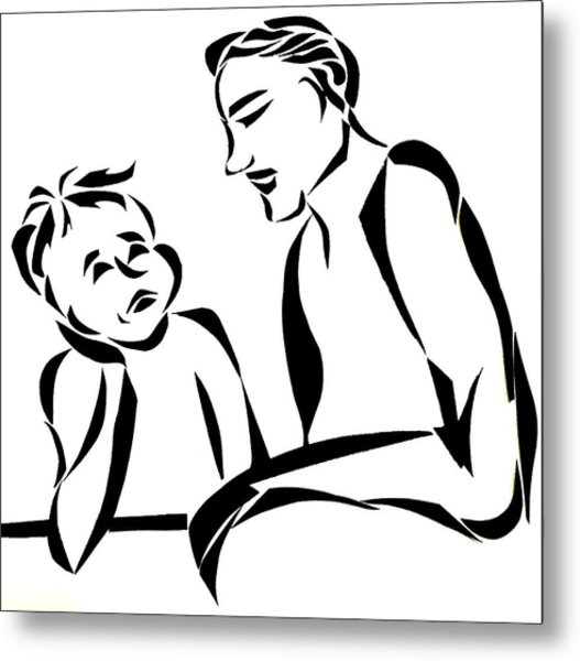 Dad And Son Metal Print