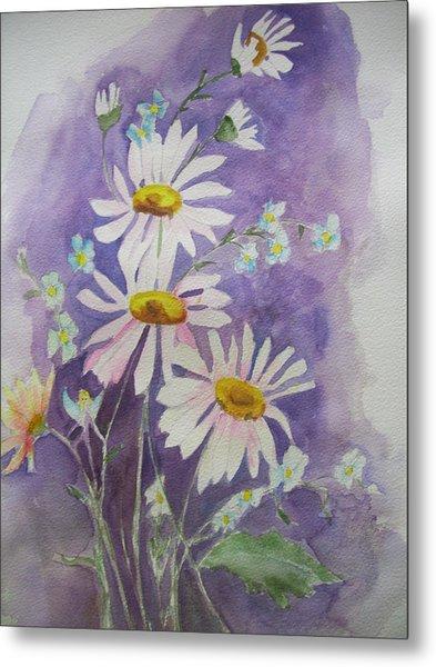 Daisey Bouquet Metal Print
