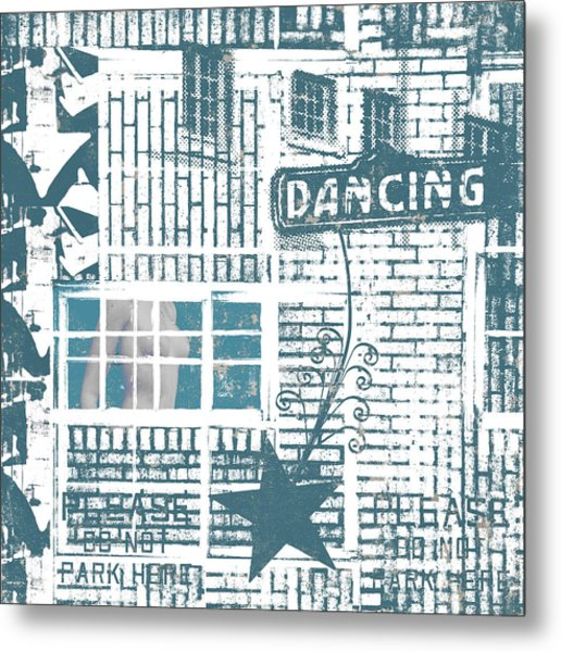 Dancing Collage Metal Print