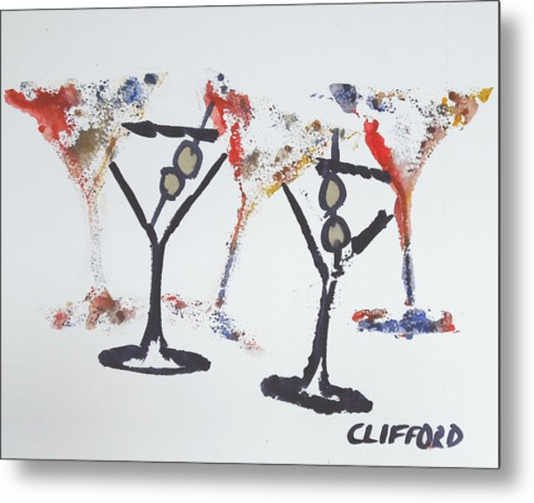 Dancing Martini's Metal Print by Cory Clifford