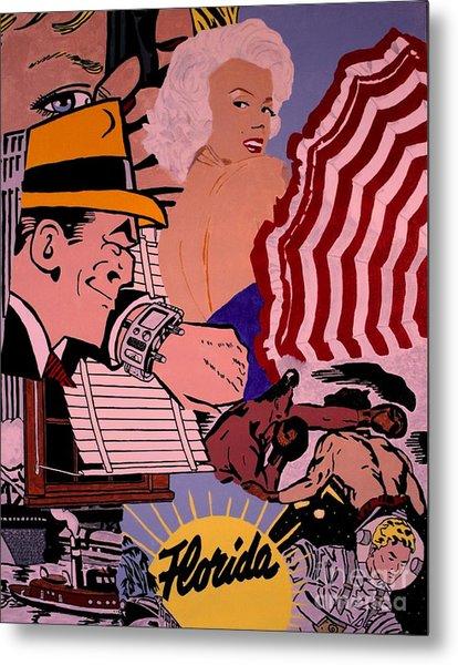 Danger Lurks Metal Print by Ralph LeCompte