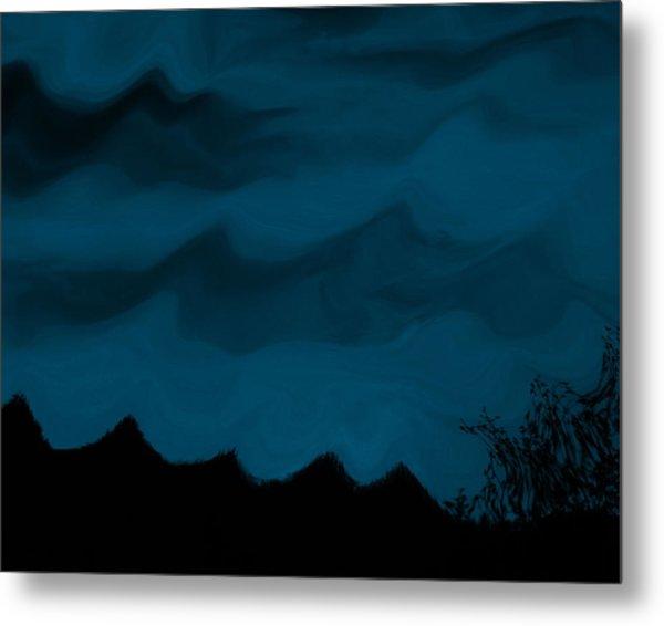Dark Is The Night Metal Print