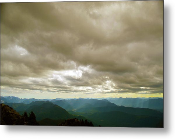 Dark Mountains Too Metal Print