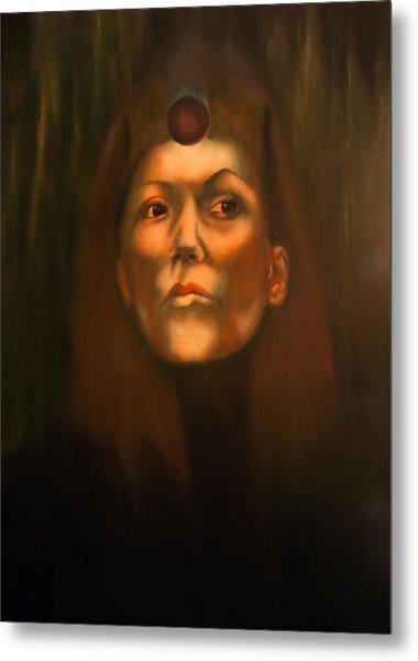 Dark Sister Of The Black Sun Cult Metal Print