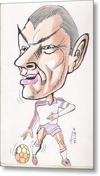 David Beckham Metal Print by Tanmay Singh