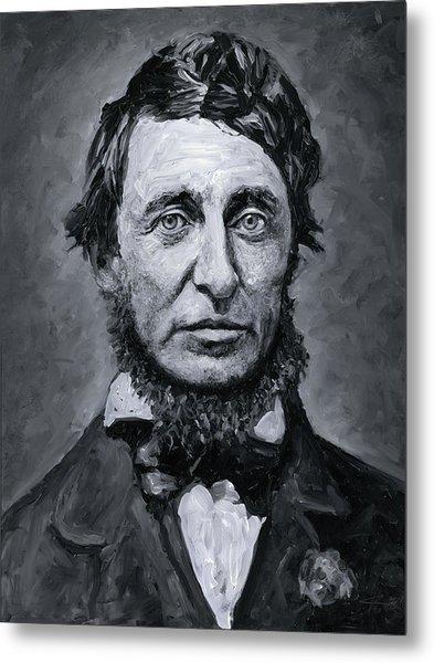 David Henry Thoreau Metal Print