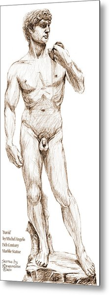 David Sketch Metal Print by Khaila Derrington
