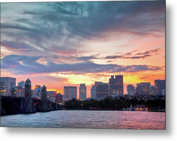 Dawn On The Charles River Metal Print