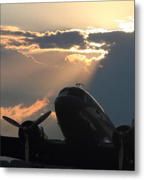 Dc-3 On Sunrise 1 Metal Print by Maxwell Amaro