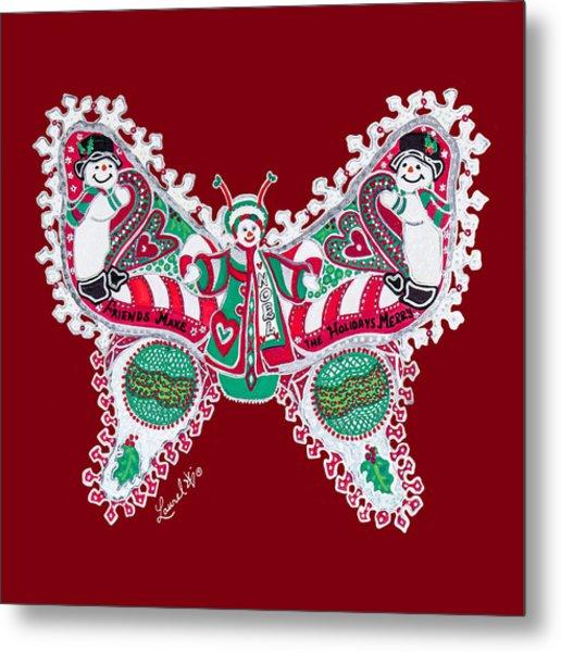 December Butterfly Metal Print