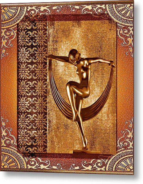 Deco Art Metal Print
