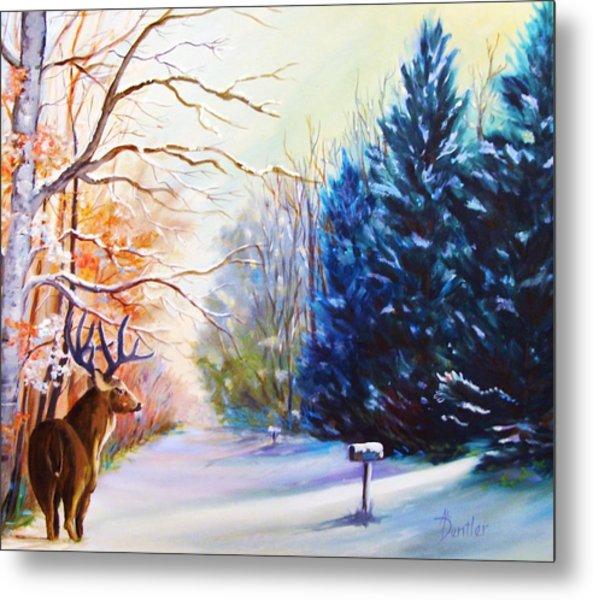 Deer Season Metal Print by Anne Dentler