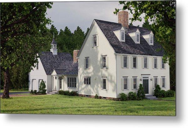 Deerfield Colonial House Metal Print