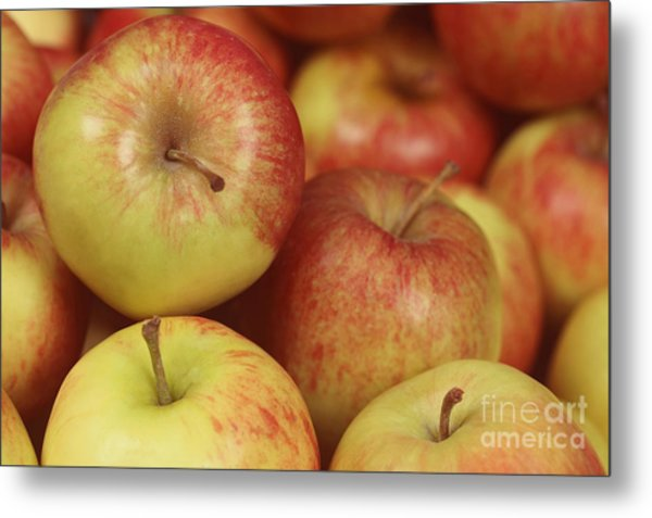 Delicious Apple Fruit Background Metal Print