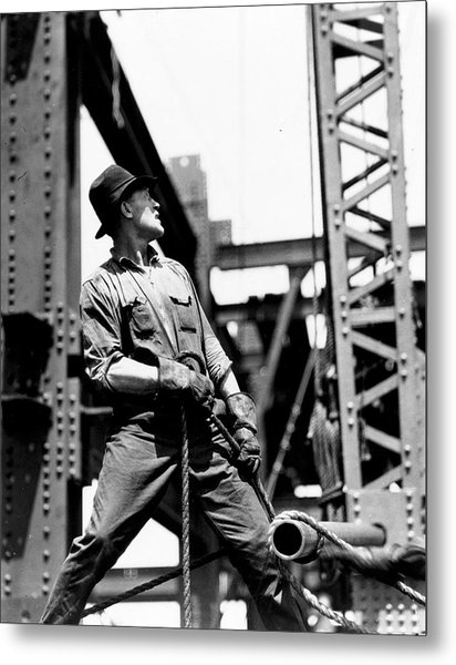 Derrick Man   Empire State Building Metal Print