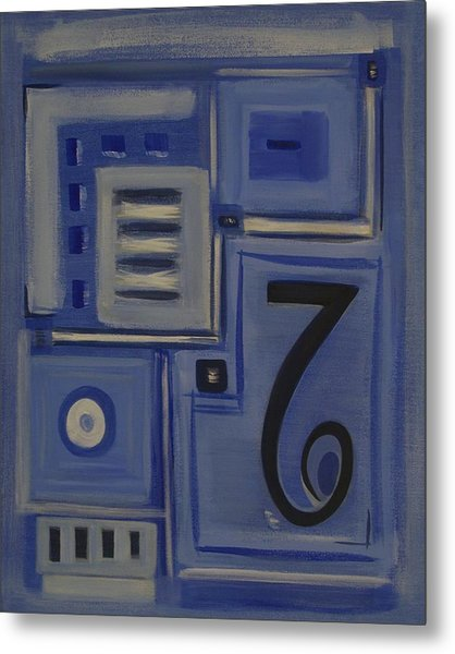 Details In Blue Metal Print by Sandy Bostelman