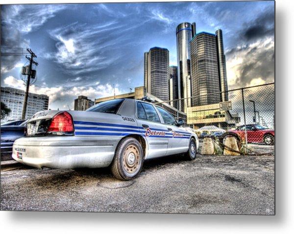 Detroit Police Metal Print