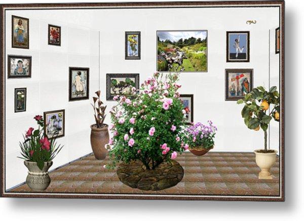 Digital Exhibition _ Roses Blossom 22 Metal Print