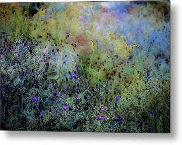 Digital Watercolor Field Of Wildflowers 4064 W_2 Metal Print