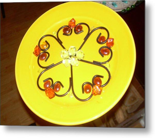 Dinner Plate Flowers Metal Print by Diane Morizio