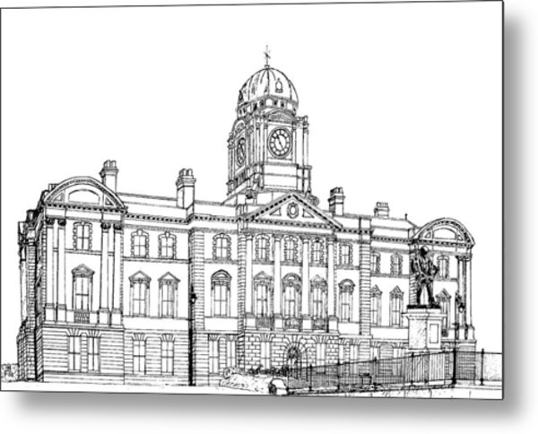 Dock Offices. Barry Metal Print