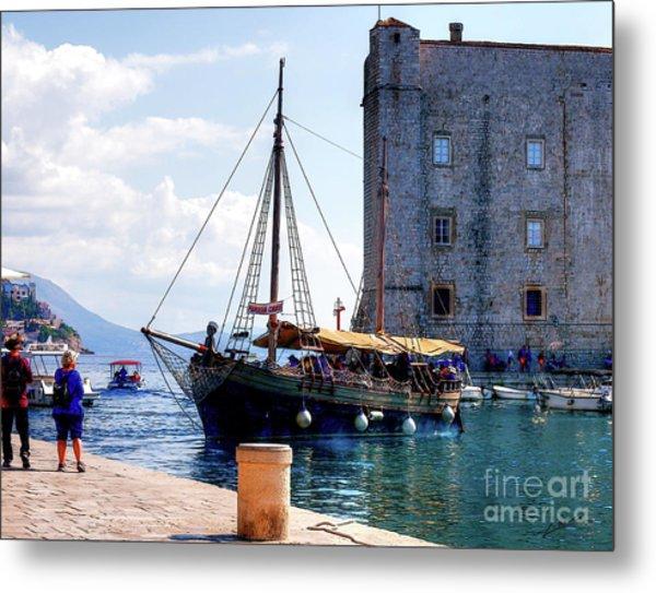 Docking In Dubrovnik Harbour Metal Print