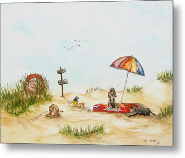 Dog Beach Metal Print