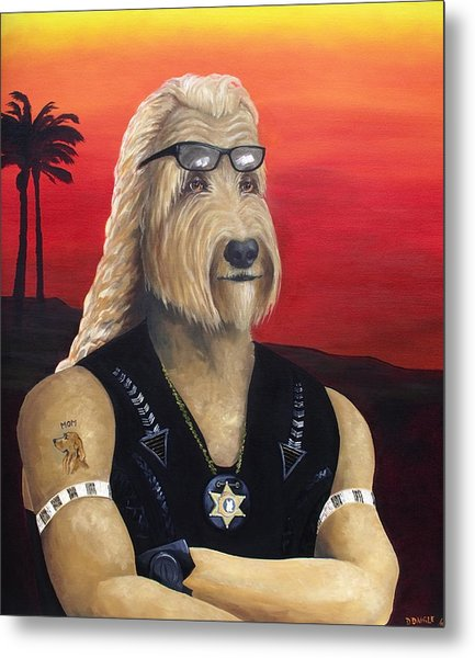 Dog The Bouncy Gunther Metal Print