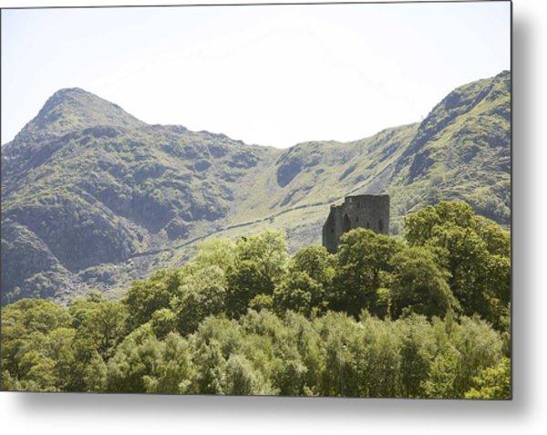 Dolbadarn Castle.  Metal Print