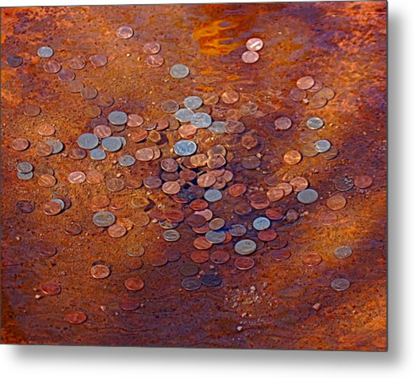 Donation Fountain Metal Print by Susan Heller