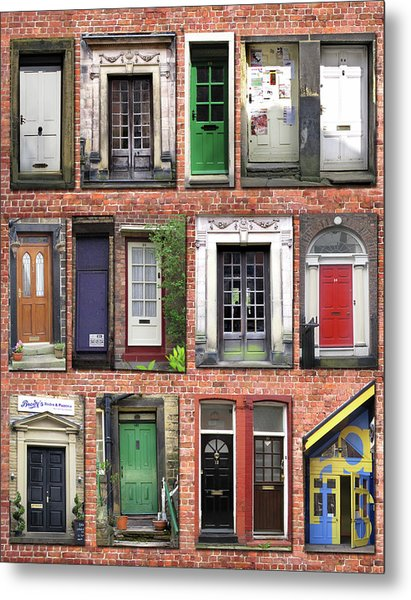 Doors Of England I Metal Print
