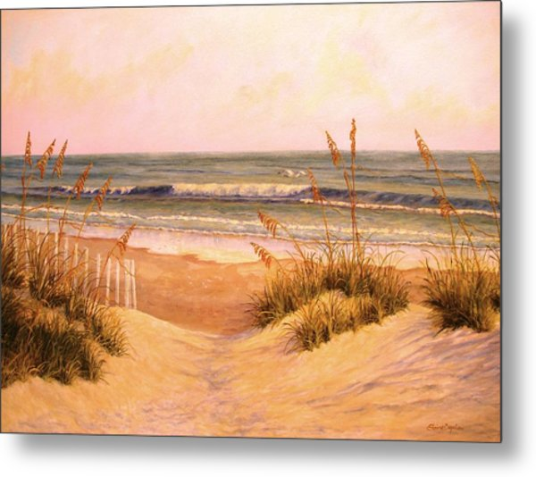 Down To The Sea Metal Print by Elaine Bigelow