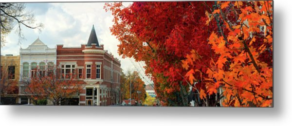 Downtown Fayetteville Arkansas Autumn Skyline Panorama Metal Print