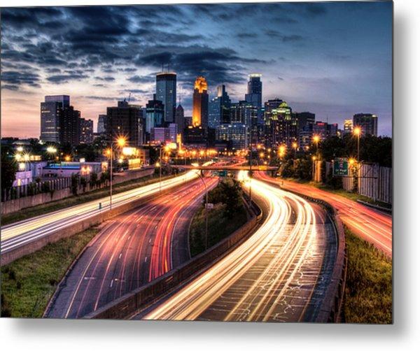 Downtown Minneapolis Skyscrapers Metal Print