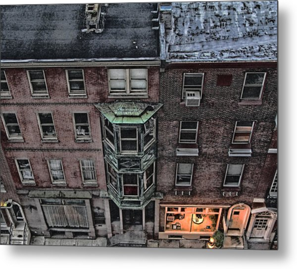 Downtown Philadelphia Building Metal Print by Anthony Rapp
