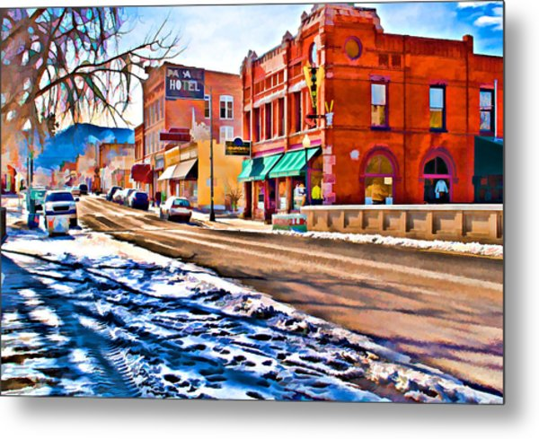 Downtown Salida Hotels Metal Print
