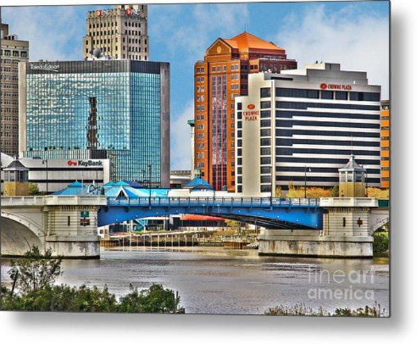 Downtown Toledo Riverfront Metal Print