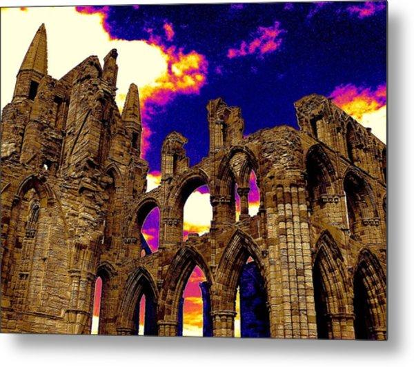 Dracula Abbey In Whitby England Metal Print by Jen White
