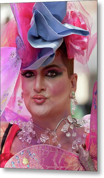 Drag Queen Gay  Pride Parade Nyc 6 27 10 Metal Print