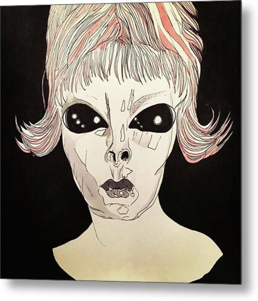 She Came From Planet Claire Metal Print