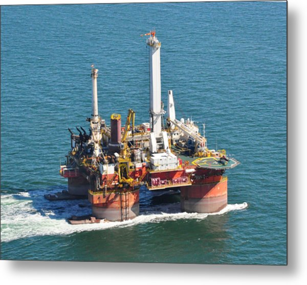 Drilling Rig Metal Print by Bill Perry