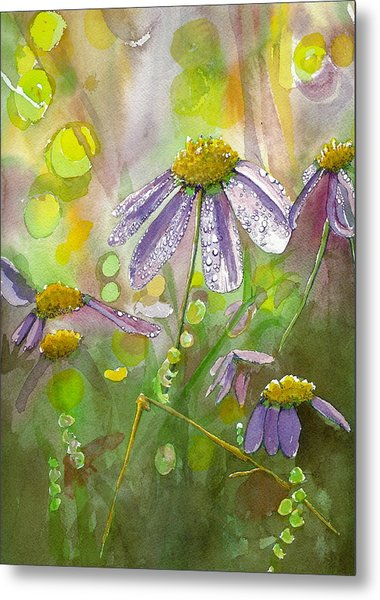 Due Today Z - Dew To Daisy Metal Print