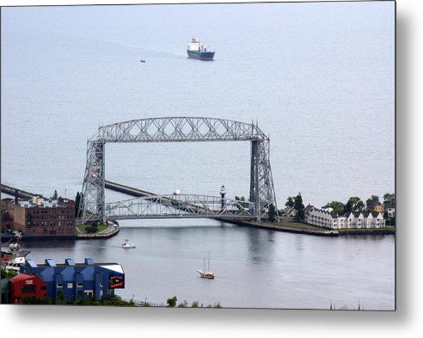 Duluth Lift Bridge On A Grey Day Metal Print