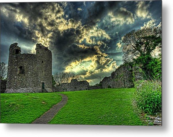 Dundrum Castle Rays Metal Print by Kim Shatwell-Irishphotographer