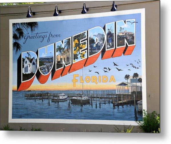 Dunedin Florida Post Card Metal Print
