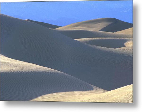 Dunes And Blue Mountains Metal Print by John Farley