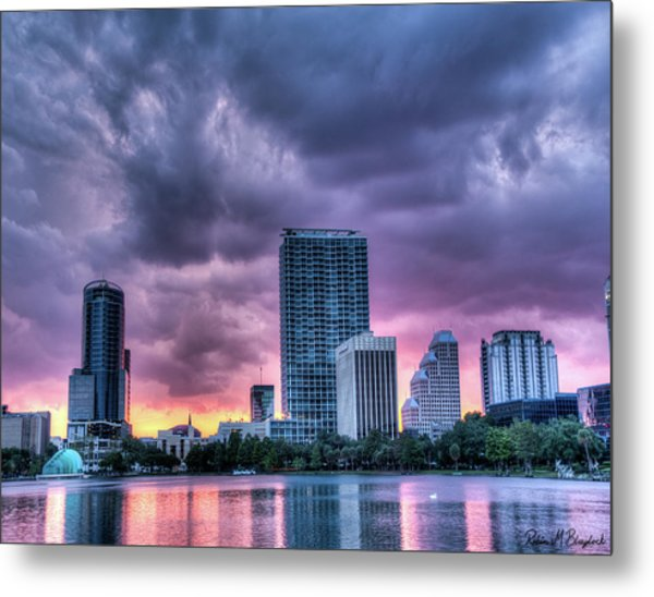 Dusky Downtown Orlando, Florida Metal Print