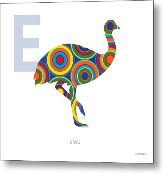 E Is For Emu Metal Print