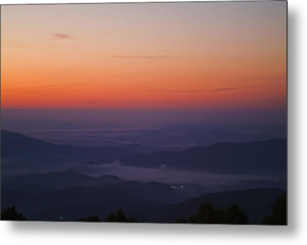 Early Morning Valley Fog Metal Print by Michael Whitaker