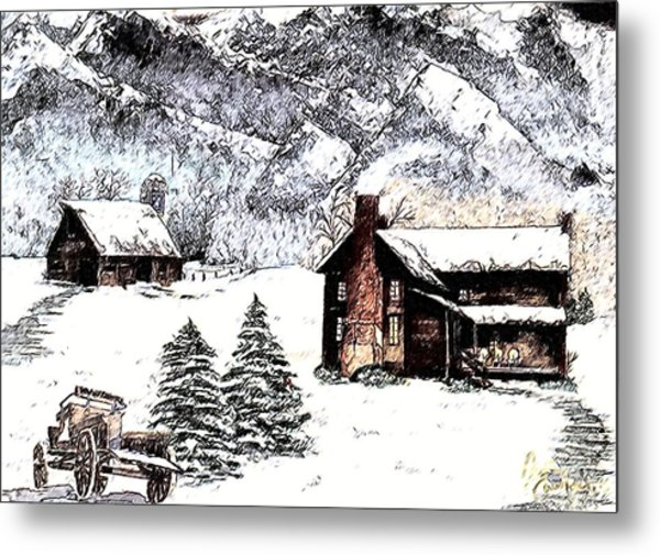 Early Snowfall Metal Print by Penny Everhart